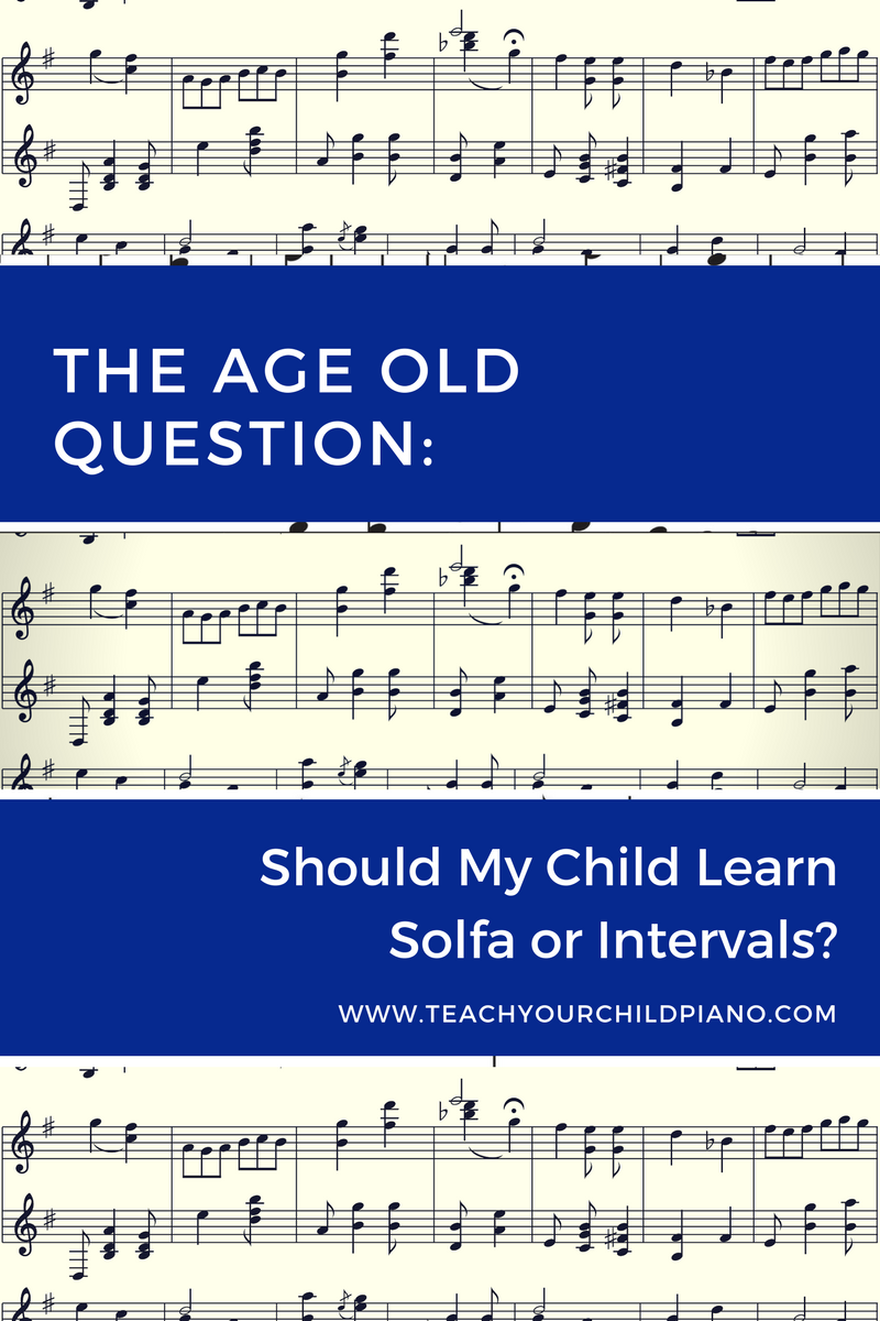 Piano lessons for kids, sometimes include the Solfa method and at other times it includes the intervals method. If you are totally confused by the two methods, have a preference for one over the other or don't know which one is better, then read this article and let me demystify it for you.