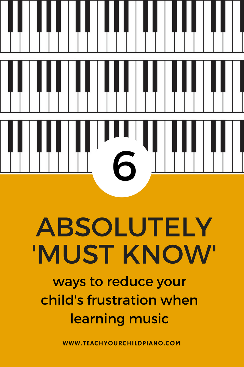 Frustration with Learning To Play Piano is the number one cause why many kids give up learning piano in the first two years. In this article I tell you how you can stop this from happening.